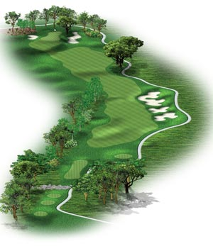 Hole #9 – Hedgerow Rendering