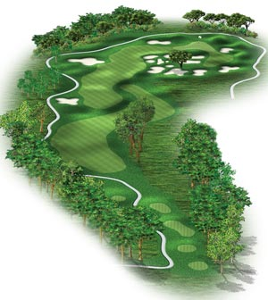 Hole #3 – Bunkered Rendering