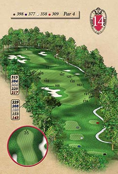 Hole #14 – Hickory Hill Rendering